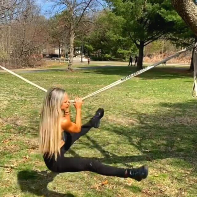 """Freestyle fun courtesy of @fireupfitnesssheri 🔥🔥🔥  """"When you use your body outside of the gym and work it in ways that simultaneously incorporate components of strength, stability, balance, core power, flexibility, endurance and mobility, you'll be able to do so much more than just lift, press or squat some random number."""" -@fireupfitnesssheri"""